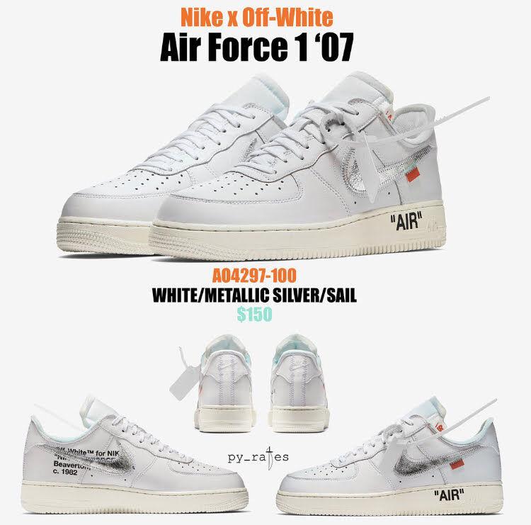 AO4297-100 オフホワイト×ナイキエアフォース1'07/OFF-WHITE × NIKE AIR FORCE 1 '07がリーク!