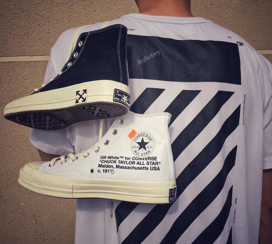 162204C-001 オフホワイト×コンバースチャックテイラー/Off-White × Converse Chuck Taylorがリーク