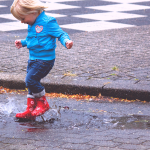 雨の日 スニーカー