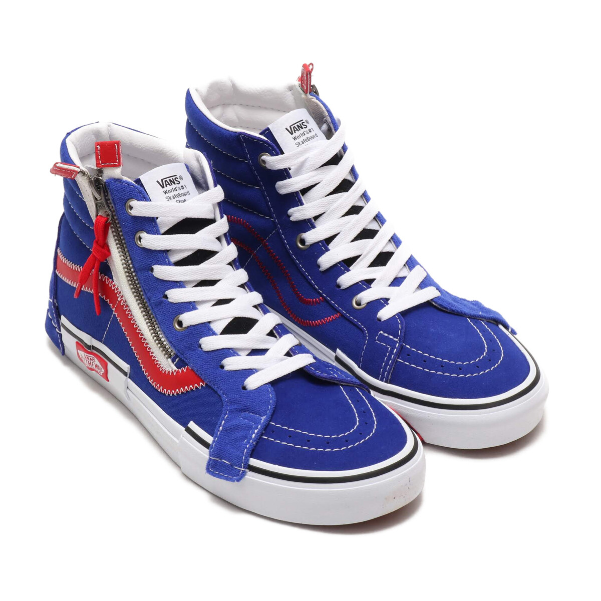 ヴァンズスケートハイリイシューキャップブルー/レッド-VANS SK8-HI REISSUE CAP BLUE/RED(vn0a3wm1xkt)