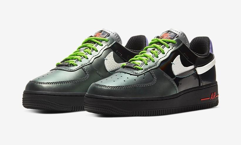 ナイキエアフォース1 07ローLXグリーン/パープル/ブラック-NIKE AIR FORCE 1 07 LOW LX Green/Purple/Black(CT7359-001)
