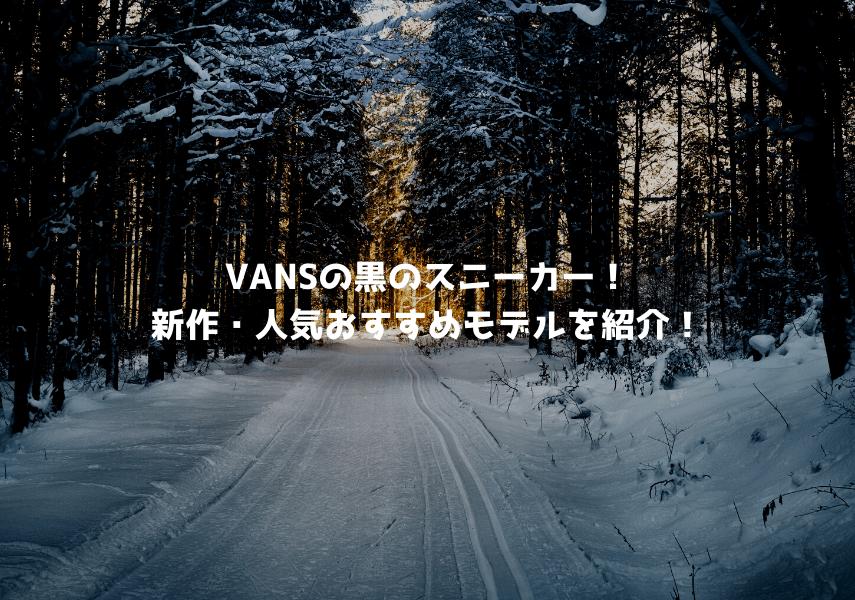 VANS(バンズ)の黒のスニーカー!新作・人気おすすめモデルを紹介!