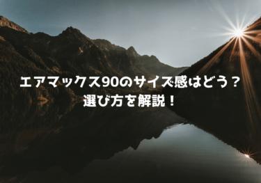 【失敗しない】エアマックス90のサイズ感はどう?選び方を解説!